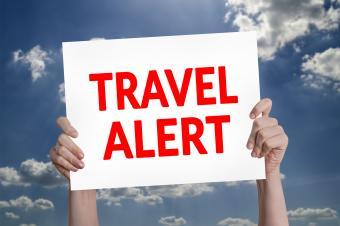travel alert sign