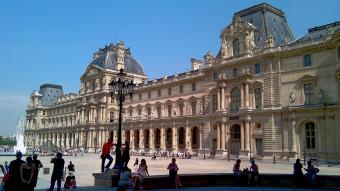 Outside The Louvre museum Paris, France