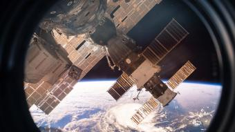 View of planet Earth from outer space from the International Space Station, ISS window
