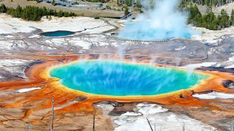Geothermal pool Yellowstone National Park Wyoming