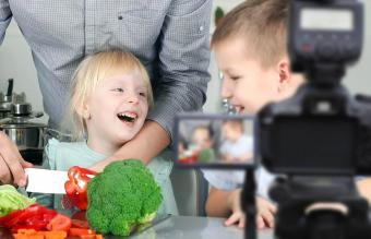 filming the meal preparation