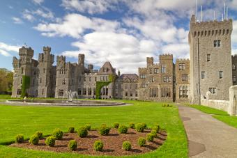 Medieval Ashford castle and gardens in Mayo, Ireland
