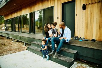 family at vacation rental property