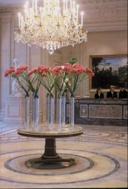 floral arrangements at the Four Seasons Georges V