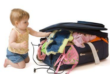Do not let your baby pack the suitcase