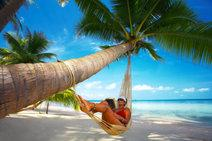 beach lady in hammock