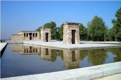 debod temple in madrid