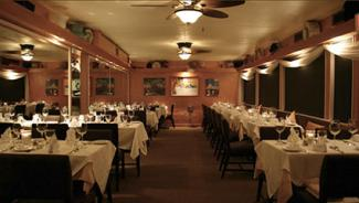 Interior of Mad Hatter Restaurant