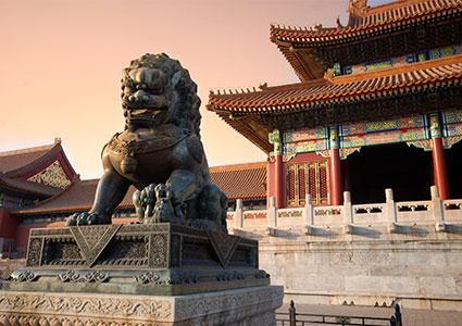 Copper Lion in Forbidden City, Beijing