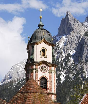 Scenery of Mittenwald, Germany
