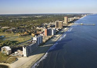 Aerial view of Myrtle Beach, South Carolina