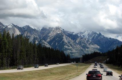 Highway near Banff, Alberta