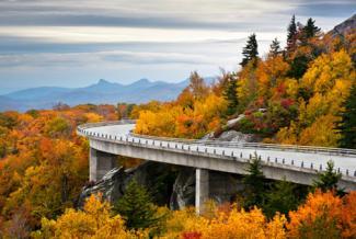 Blue Ridge Parkway Fall Foliage, Linn Cove Viaduct