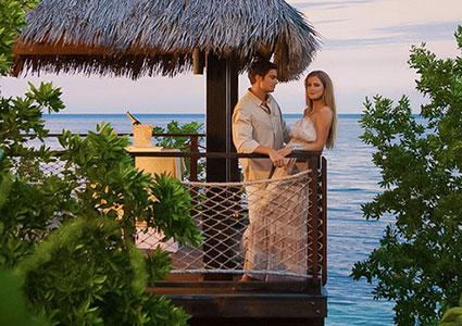Couple at Sandals tropical destination