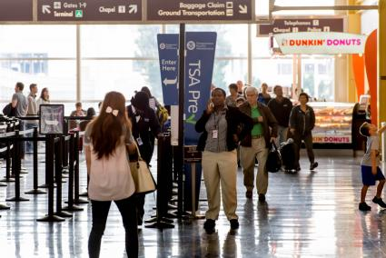TSA check-in lines