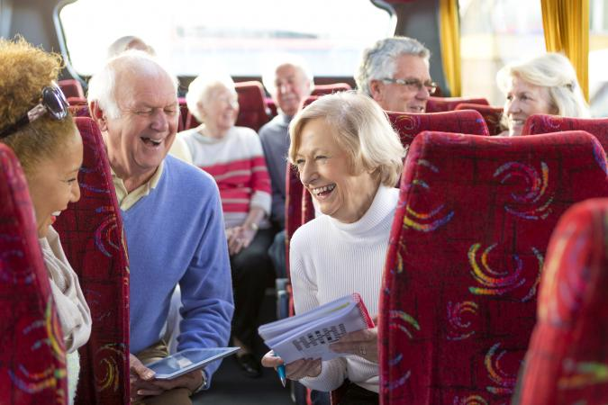 Senior citizens travel groups