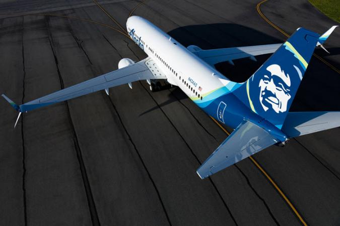Image of an Alaska Airlines jet