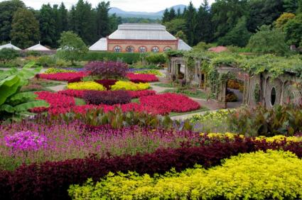 Summer in the walled garden at Biltmore Estate