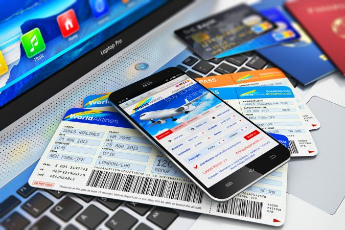 Cell phone and airline tickets