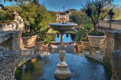 Vizcaya Stone Fountain