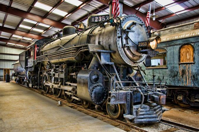 Train engine photo by John Wright