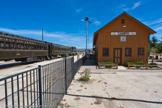 Train depot photo by John Wright