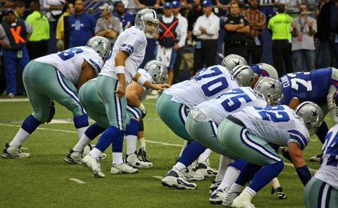 NFL Dallas Cowboys offensive line