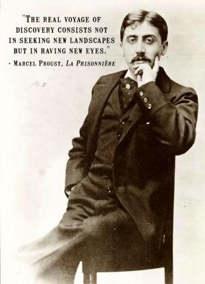 Marcel Proust with travel quote