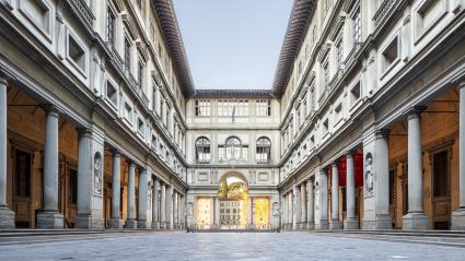 Uffizi Art Gallery in Florence, Italy