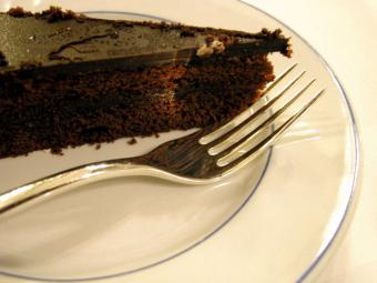 Piece of chocolate cake.