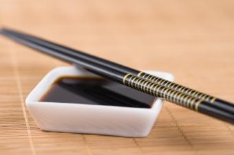 Nama shoyu with chopsticks