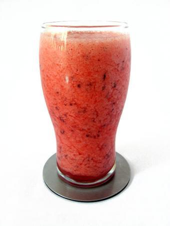 A plum smoothie.