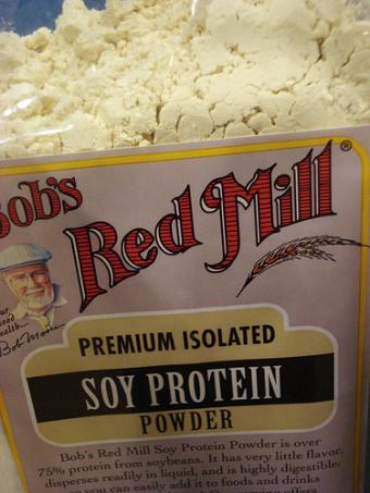 Bob's Red Mill soy protein powder.