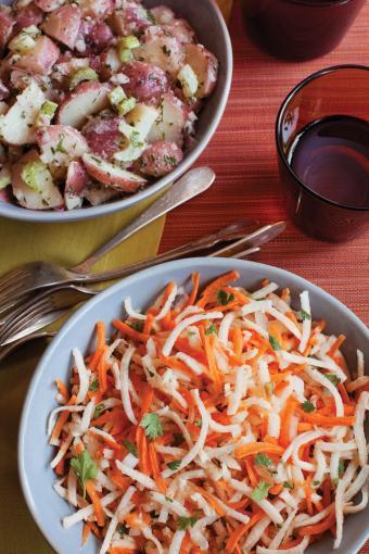 Jicama-Carrot Slaw from Vegan Family Meals