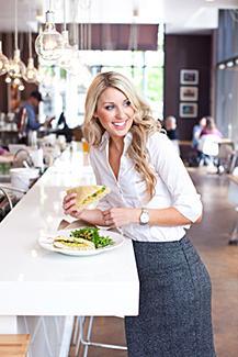 woman at a restaurant