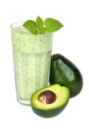 Arugula, avocado and pear smoothie