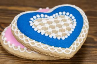 Cookies decorated with eggless royal icing