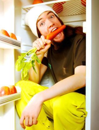 Vegan eating carrot