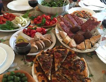 Lunch at villa