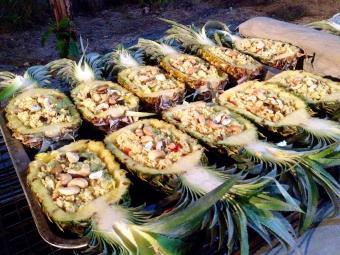 Pineapple rice dish