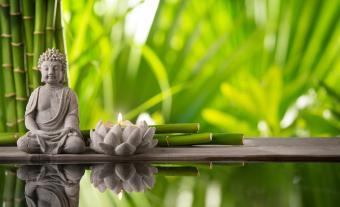 Buddhist statue in serene place