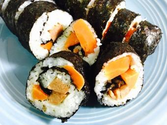 Tofu and Carrot Sushi