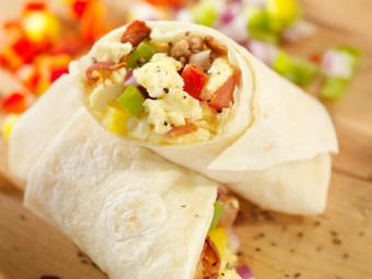 Breakfast Burrito with Scrambled Eggs