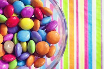 Image of multi-colored vegan candy