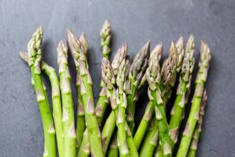 Asparagus on dark background