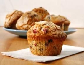 Berry-studded muffin.