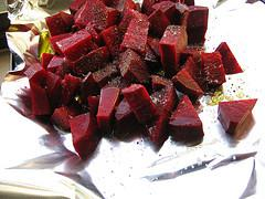 Beets ready for roasting.