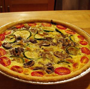 Eggless quiche