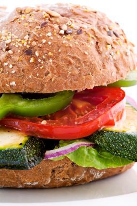 Thick veggie burger.