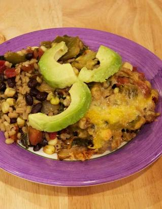 barley, black bean and corn casserole